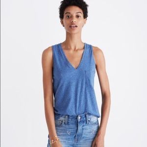 Madewell cotton whisper vneck tank top